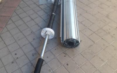 material cierre metalico enrollable